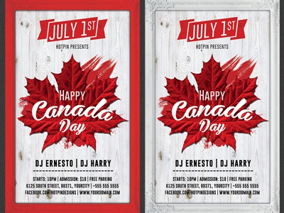canada day flyer template by christos andronicou dribbble. Black Bedroom Furniture Sets. Home Design Ideas