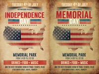 Memorial Independence Day Flyer Template