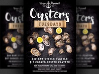 Seafood Oysters Restaurant Flyer Template