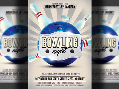 Bowling Flyer Designs On Dribbble