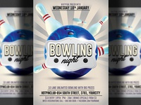 Bowling Night Party Flyer Template