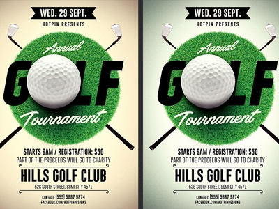 Golf Tournament Flyer Template By Christos Andronicou  Dribbble