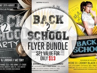 Back To School Party Flyer Template Bundle