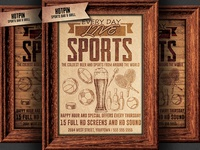Sports Bar Pub Flyer Template
