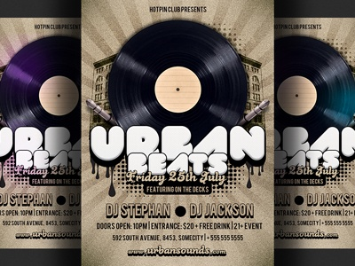 Hip Hop Party Flyer Template By Hotpin Dribbble Dribbble