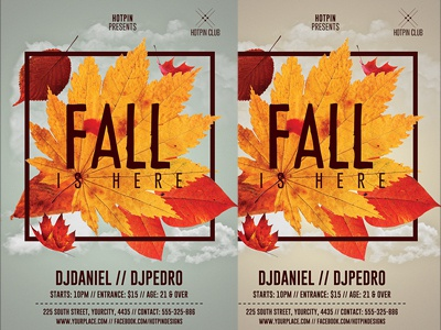 Fall Party Flyer Template psd photoshop promotion party flyer october fest leafs harvest flyer design fall party fall festival event celebration autumn party