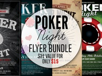 Poker Night Flyer Template Bundle