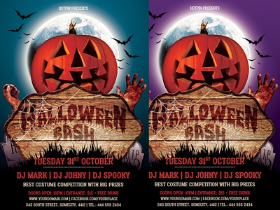 Halloween Party Flyer Template By Christos Andronicou Dribbble
