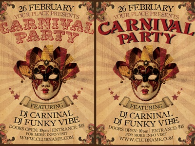 Carnival Flyer carnival flyer template design vintage print graphic design photoshop