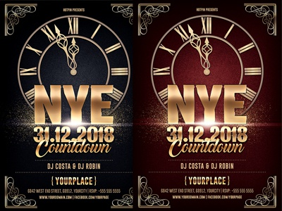 new years eve countdown flyer template xmas poster party flyer nye nightclub new years eve new