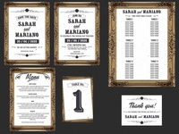 Frame Wedding Invitation Set