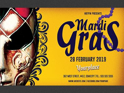 carnival mardi gras flyer template by hotpin dribbble dribbble