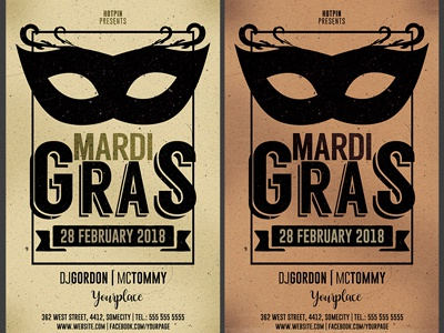 Mardi Gras Party Flyter Template
