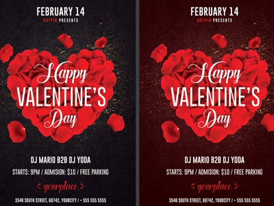 Valentines Day Invitation Flyer Template 2