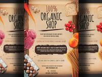 Organic Bio Shop Flyer Template