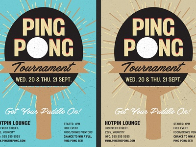 Ping Pong Flyer Template By Christos Andronicou Dribbble