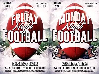 American Football Flyer Template Superbowl Lii Super Bowl Party 52
