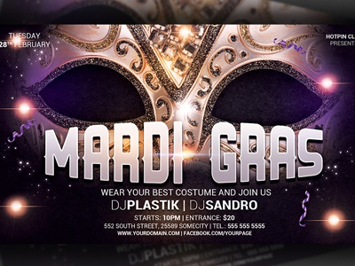 Carnival | Mardi Gras Party Flyer Template