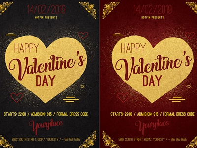 Classy Valentines Day Psd Flyer Template