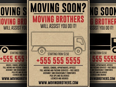 Moving Company Flyer Template By Christos Andronicou Dribbble