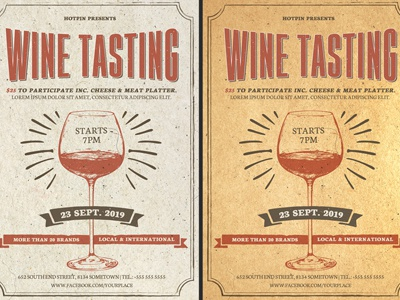 Wine Tasting Flyer Template By Christos Andronicou Dribbble