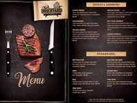 Grill Restaurant Menu Flyer Steakhouse