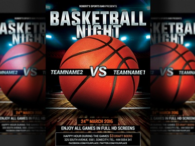 Basketball Flyer Template By Christos Andronicou  Dribbble