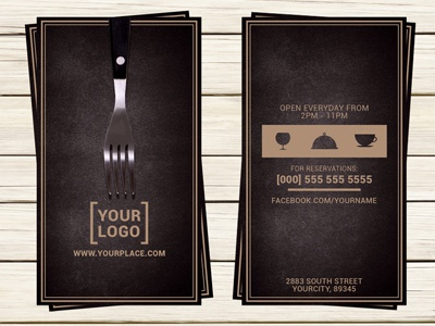 Restaurant business card template by christos andronicou dribbble restaurant business card template accmission Image collections