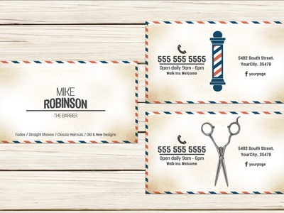 Barber shop business card template by christos andronicou dribbble barbershop business card template fbccfo Gallery