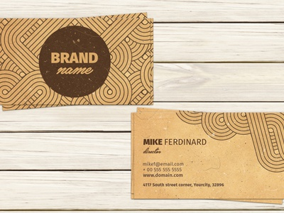 Vintage Artistic Business Card Template corporate business card stylish business card minimal card minimal design visiting card template modern business card clean business card calling card business card