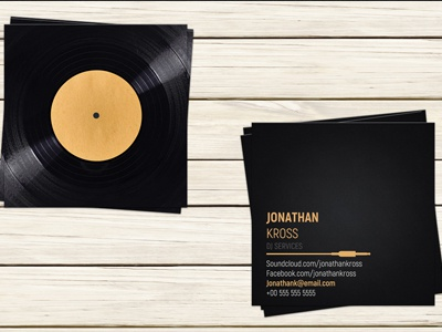 Dj business card template by christos andronicou dribbble dj business card template accmission Gallery