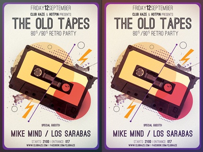 Minimal Retro Party Flyer Template