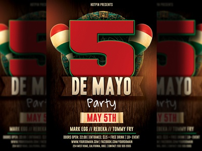 cinco de mayo party flyer template by christos andronicou dribbble