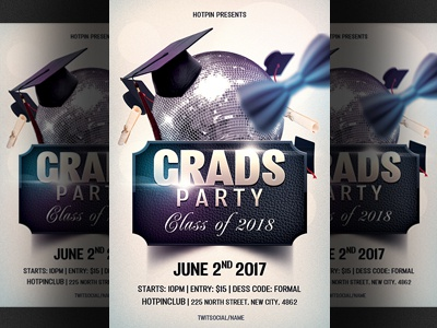 Prom Graduation Party Flyer Template By Hotpin Dribbble Dribbble