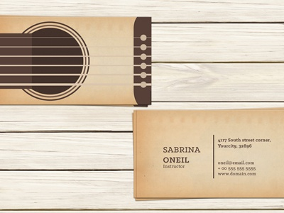 Guitar Teacher Business Card Template