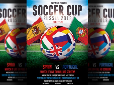 football world cup flyer template by hotpin dribbble dribbble