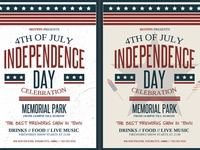 4th July Independence Day Flyer Template