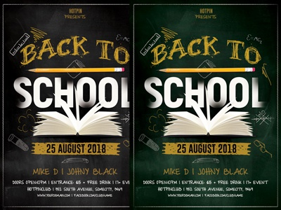 Back To School Flyer Template By Hotpin Dribbble Dribbble