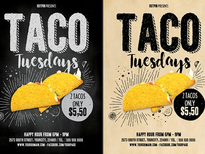 Taco Flyer Template photoshop psd tacos flyer tacos taco tuesdays fast food flyer modern advertising promotion menu flyer design mexican restaurant mexican restaurant flyer food track flyer mexican food track mexican food taco