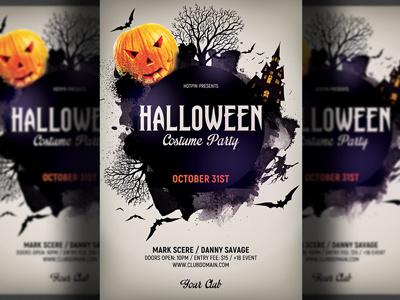 Halloween Flyer Template poster horror haunted happy halloween halloween poster halloween party halloween night halloween invitation halloween flyer halloween design halloween celebrations halloween bash halloween 2018 halloween dark costume party