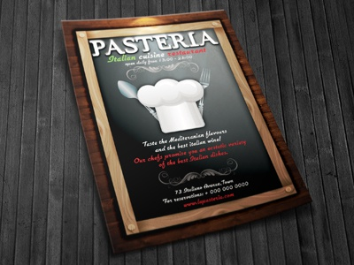 restaurant ad flyer template by hotpin dribbble dribbble