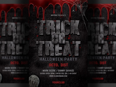 halloween flyer template by hotpin dribbble dribbble