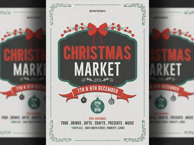 christmas market flyer template by hotpin dribbble dribbble