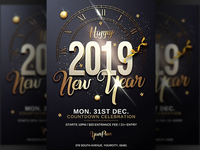 classy new year party flyer template party nye invitation nye flyer nye nightclub new years eve