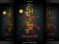 Elegant Christmas Party Flyer Template