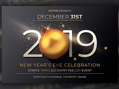 new year flyer invitation by hotpin dribbble dribbble