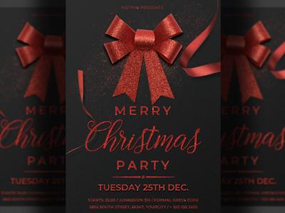 Elegant Christmas Flyer Invitation Template