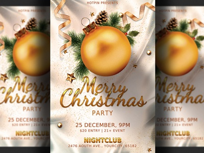 christmas party flyer template by hotpin dribbble dribbble