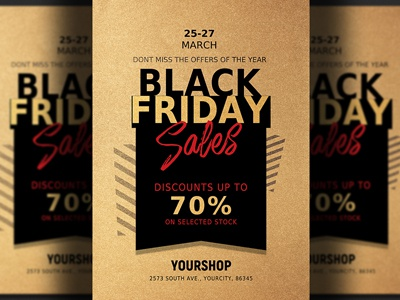 black friday sale flyer template design sale party online store deals web november holiday friday flyer