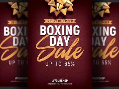 boxing day sale flyer template by hotpin dribbble dribbble
